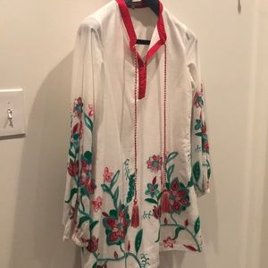 English Factory Embroidered Dress - M